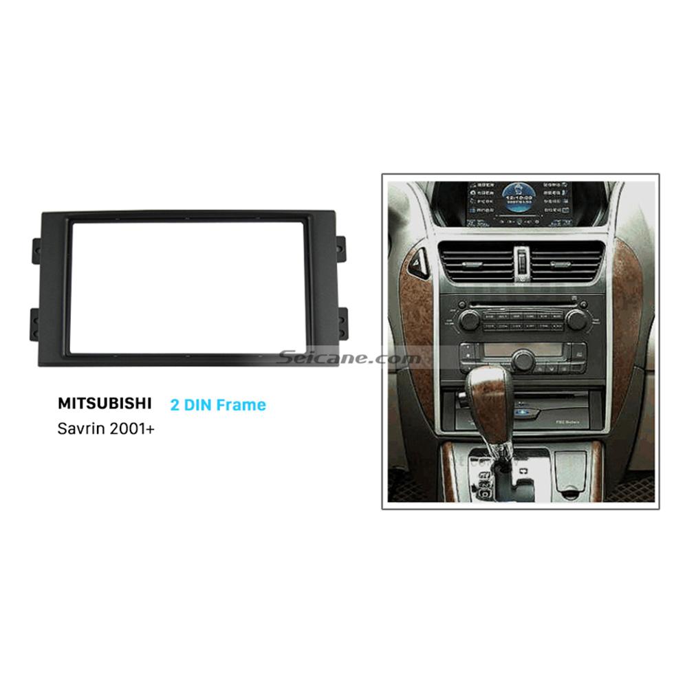 Seicane Fantastic Double Din 2001+ Mitsubishi Savrin Car Radio Fascia Dash CD Trim Installation Kit Dashboard Panel Auto Stereo