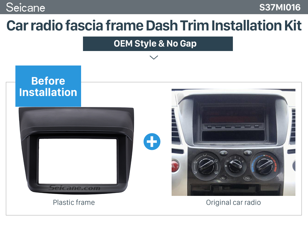 Seicane Stunning Design Din 2010 Mitsubishi Pajero Sport Triton Car Radio Fascia Trim Installation Kit DVD Player Fitting Frame