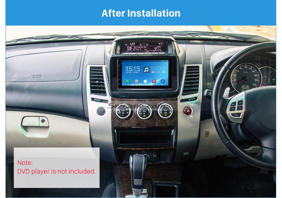 Seicane Fantastic Double Din 2015 Mitsubishi Pajero Sport Triton Car Radio Fascia Trim Dash CD Installation Kit Frame Panel