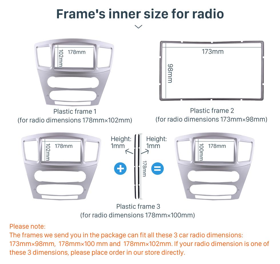 Seicane Top Quality 2Din 2004-2010 Mitsubishi Galant Grunder Car Radio Fascia Audio Frame Trim Dash Installation Kit Plate Frame
