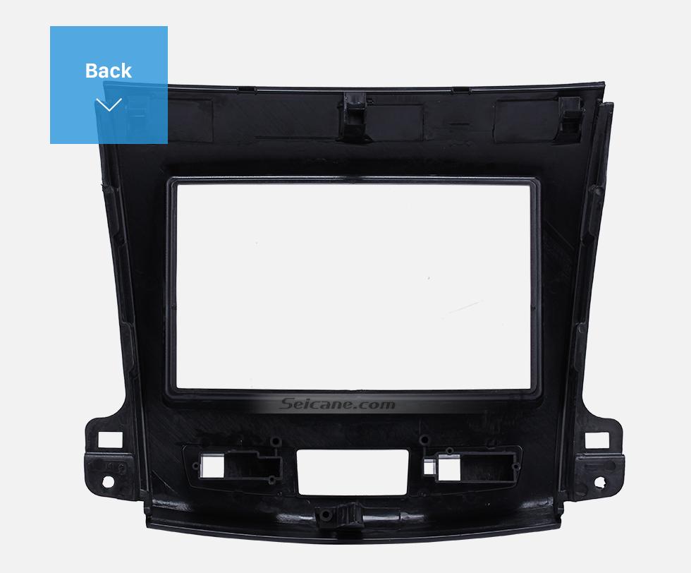 Seicane 2Din 2008-2012 Mitsubishi Outlander Car Radio Fascia Auto Stereo Interface Panel In Dash Mount Frame Kit