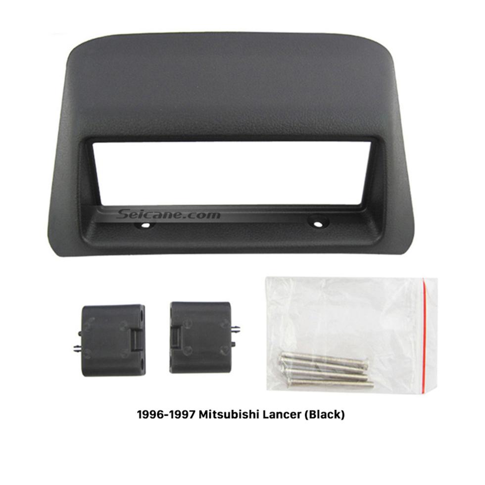 Seicane High Quality Black 1996 1997 Mitsubishi Lancer Car Radio Fascia Stereo Dash Kit Installation DVD Frame Panel Adaptor