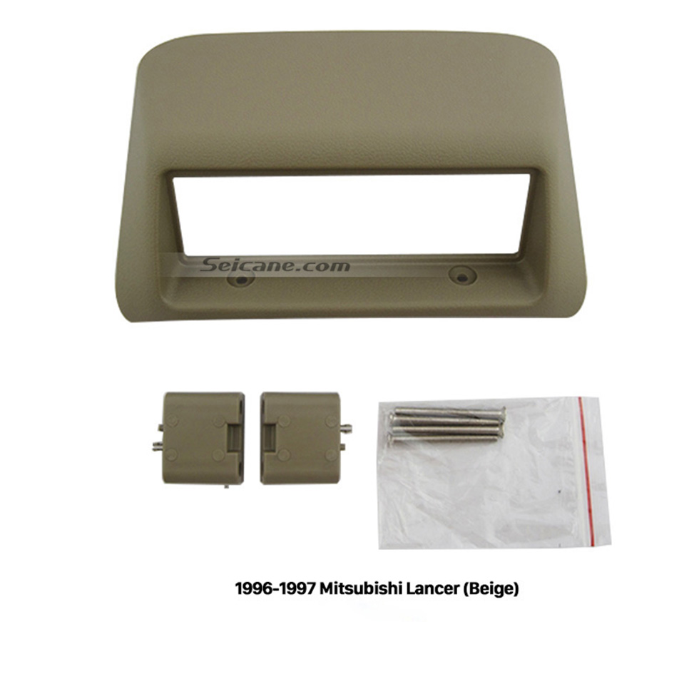 Seicane Great Beige 1996 1997 Mitsubishi Lancer Car Radio Fascia Audio Fitting Adaptor Dashboard Panel Trim Bezel