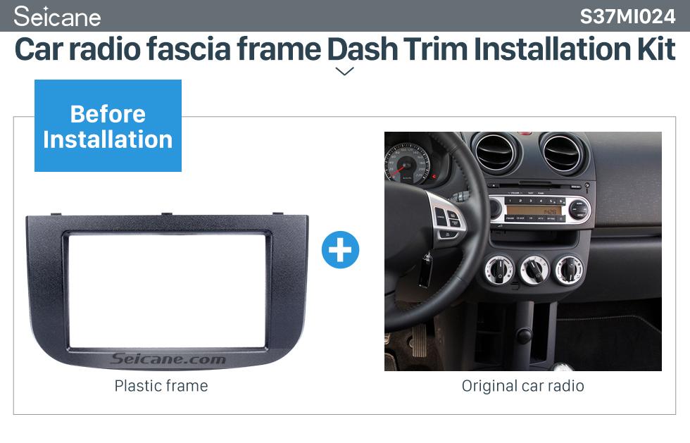 Seicane Terrific 2Din 2007 Mitsubishi Colt Car Radio Fascia Dashboard CD Trim Installlation Kit Audio Frame Fitting Adaptor