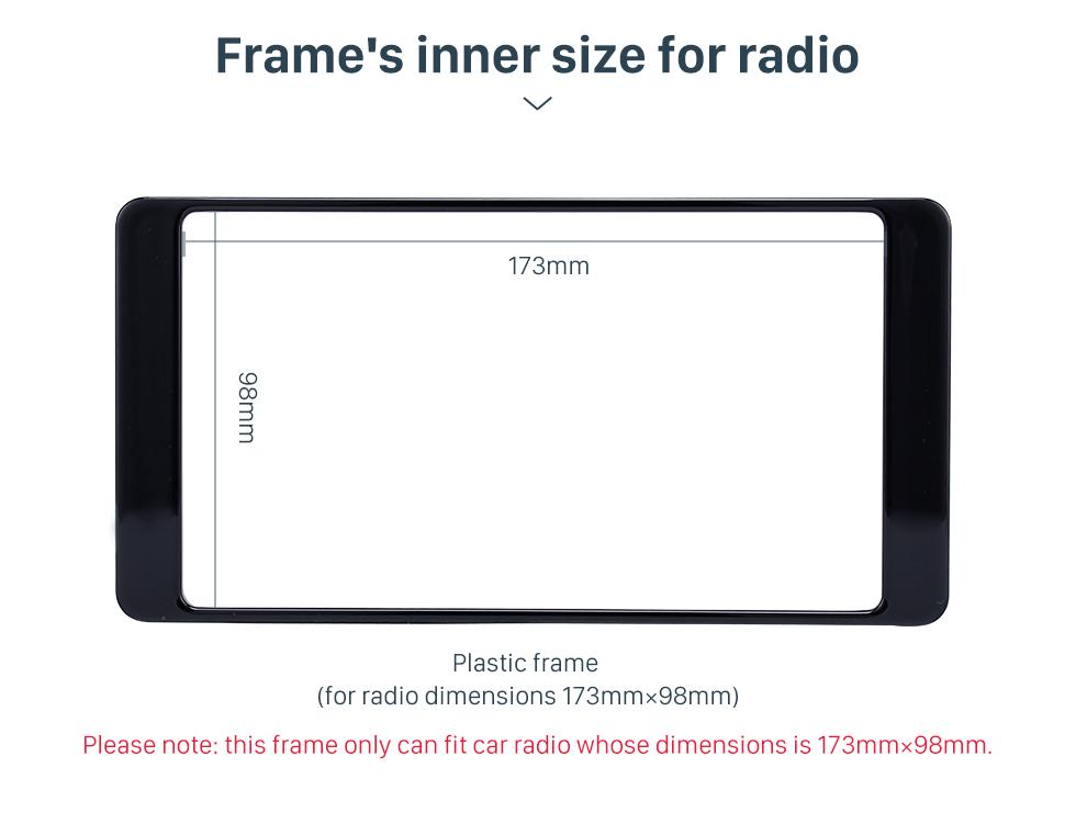 Seicane Hot Sell 2Din 2014 Mitsubishi Outlander Car Radio Fascia Auto Stereo Interface Panel Trim Installation frame Kit