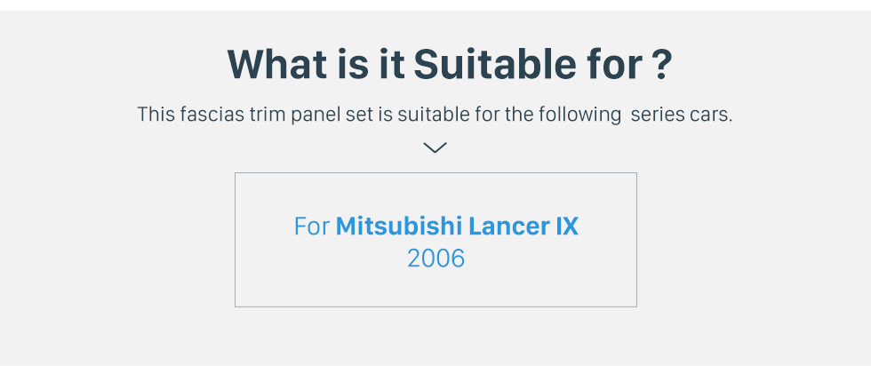Seicane Top quality for 2006 Mitsubishi Lancer IX AC Control Accessories In Dash Dashboard Fascia Panel Frame