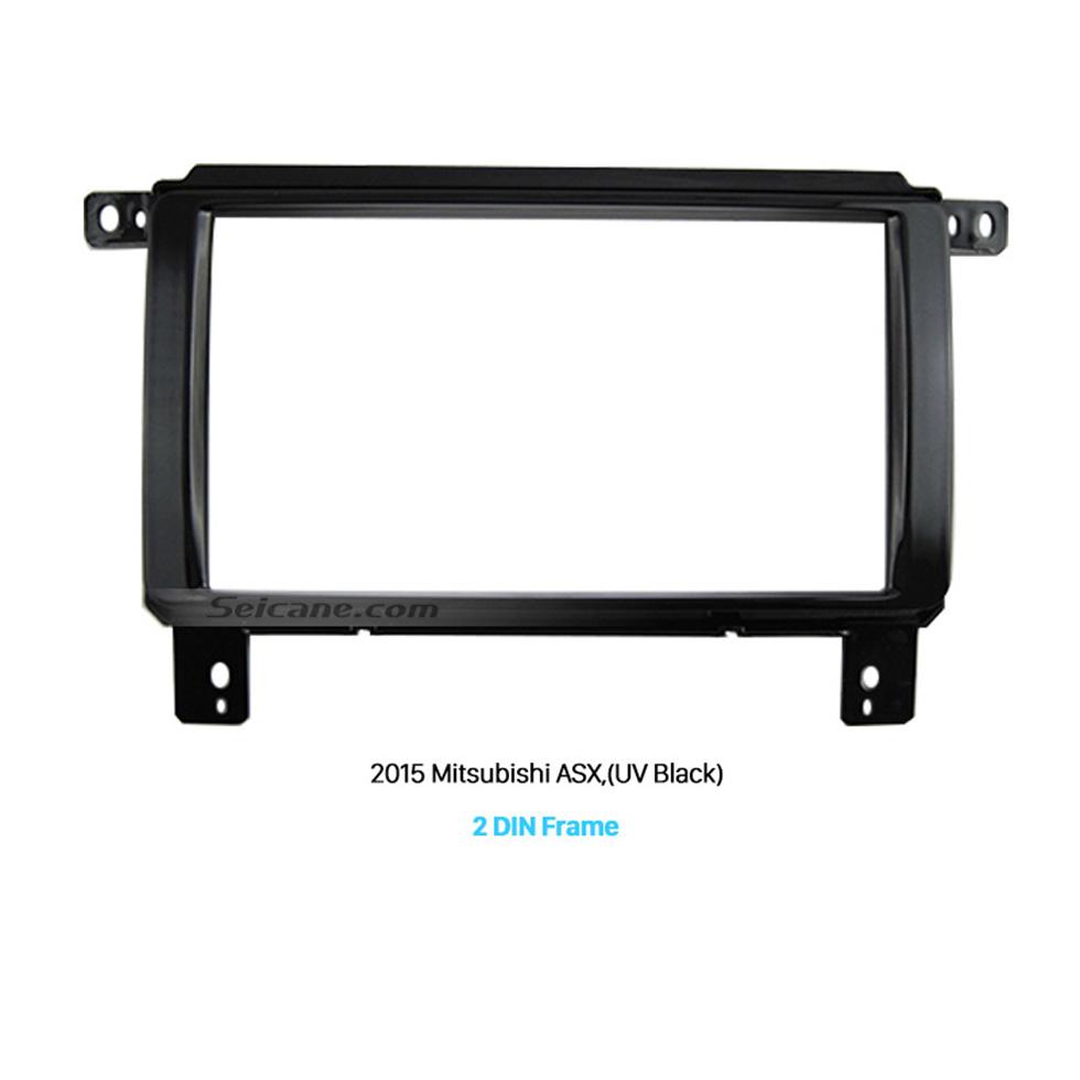 Seicane UV Black 2Din 2015 Mitsubishi ASX Car Radio Fascia Auto Stereo Adaptor Car Styling Trim Installation Kit