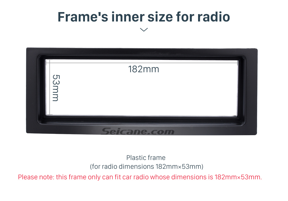 Seicane Black 1Din 2005+ Citroen C5 Car Radio Fascia Stereo Frame Panel Dash Mount Fitting Kit Installation