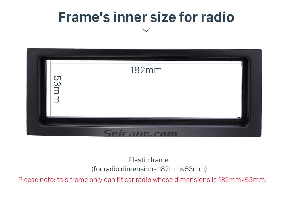 Seicane Schwarz 1Din 2005+ Citroen C5 Autoradio Fascia Stereo Frame Panel Dash Mount Fitting Kit Installations