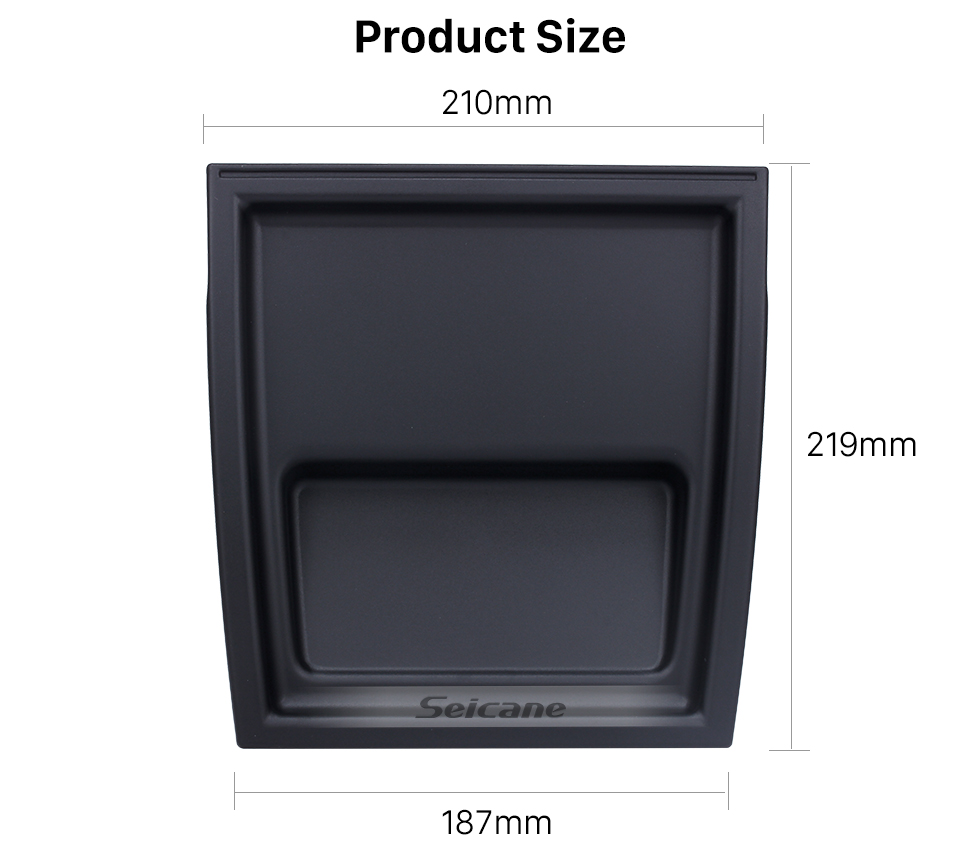 Seicane Black Citroen Nemo Car Radio Upper Cover Top Panel Shell Case Surface Stereo Installation Adapter