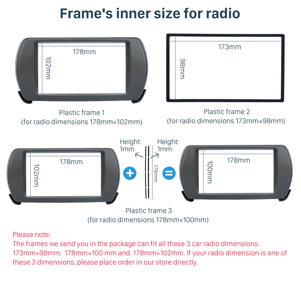 Seicane Latest Double Din 2013 Suzuki Alto Car Radio Fascia DVD Frame Panel Stereo Player Dash Trim Kits