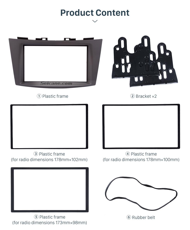 Seicane Black Double Din 2012 Suzuki Ertiga Car Radio Fascia CD Trim Panel Audio Fitting Frame Adaptor Dash Mount