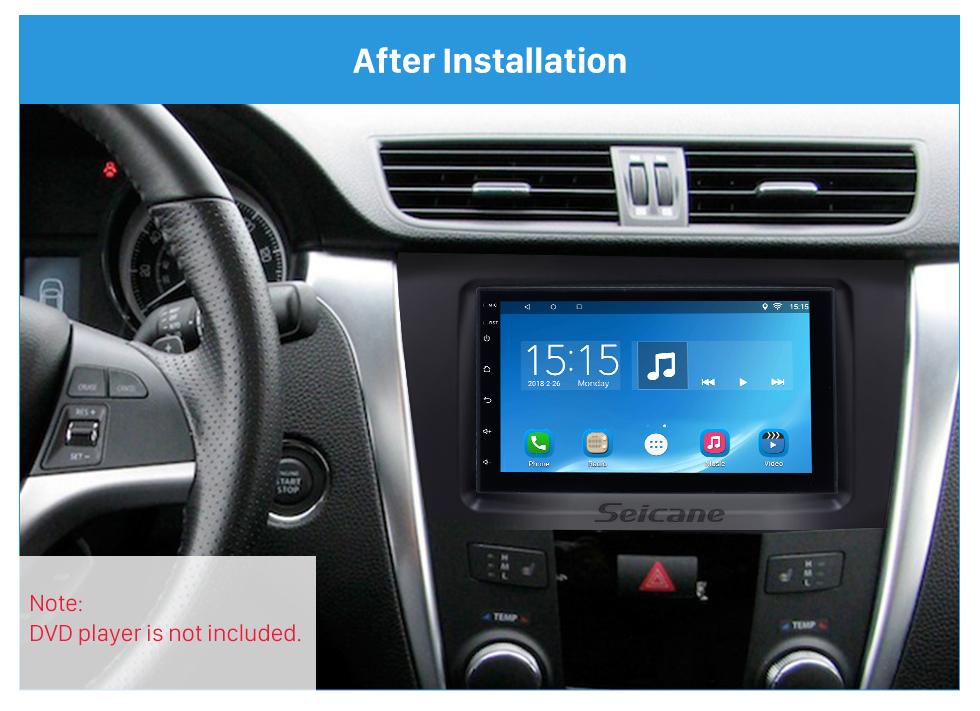 Seicane Black Double Din 2009-2014 Suzuki Kizashi Car Radio Fascia Stereo Frame Panel Dash Mount Kit Audio Cover