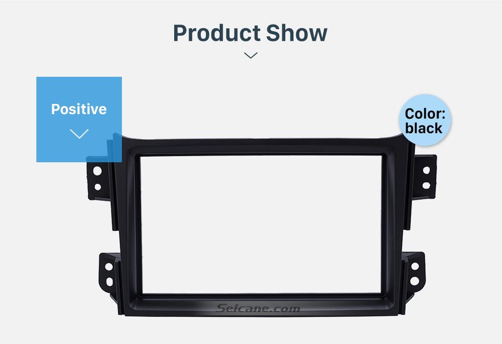 Seicane Black Double Din 2008-2014 Suzuki Splash Car Radio Fascia Autostereo Panel Kit Dash CD Plate Frame