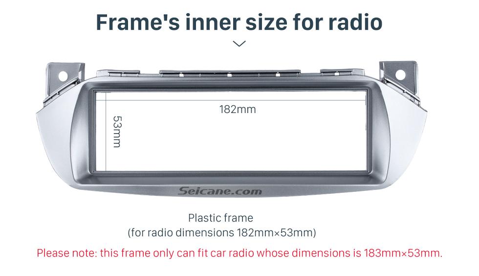 Seicane Silver 1Din 2008-2014 Suzuki Alto Nissan Pixo Maruti A-Star Car Radio Fascia Dash CD Stereo Player Audio Fitting Adaptor