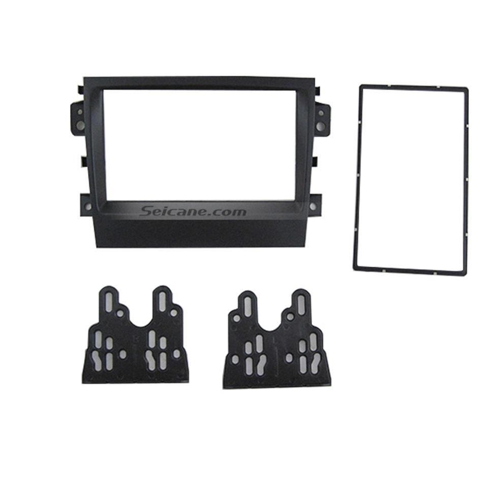 Seicane Black 2Din 2012 2013 2014 2015 Suzuki Bei Dou Xing X5 Car Radio Fascia Stereo Dash Panel Frame Trim Bezel
