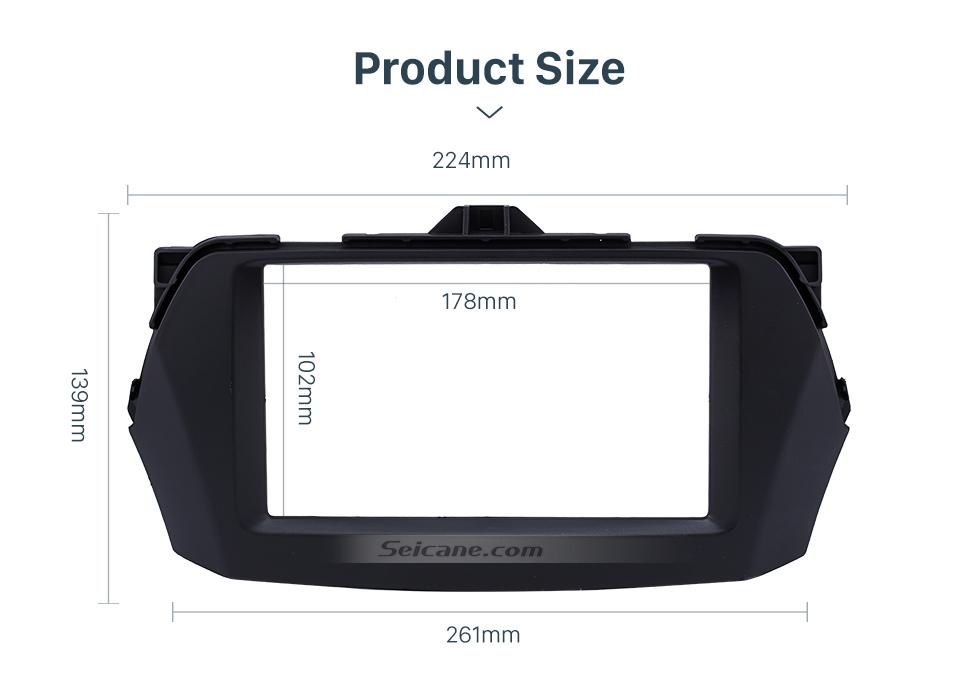 Seicane Best Double Din 2015 Suzuki Alivio Ciaz Car Radio Fascia DVD Frame Dash Mount Kit Trim Panel