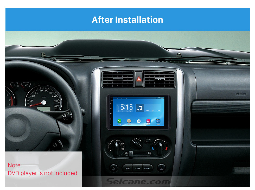 Seicane 173*98/178*102mm Double Din 2008 Suzuki Jimmy Car Radio Fascia DVD Player Face Plate Fitting Frame
