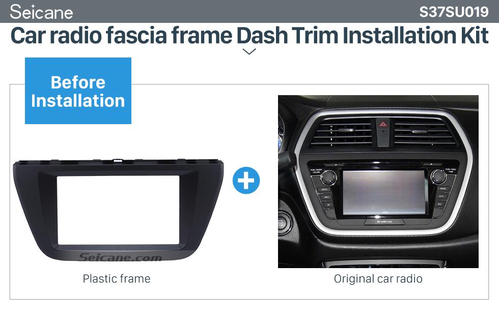 Seicane 173*98mm Double Din 2015 Suzuki S-cross Car Radio Fascia Audio Player Stereo Frame Panel CD Trim