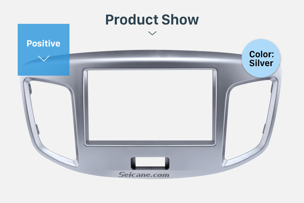 Product Show Silver Double Din 2015 Suzuki Wagon Car Radio Fascia DVD Frame Stereo Player Fit Installation Panel Plate