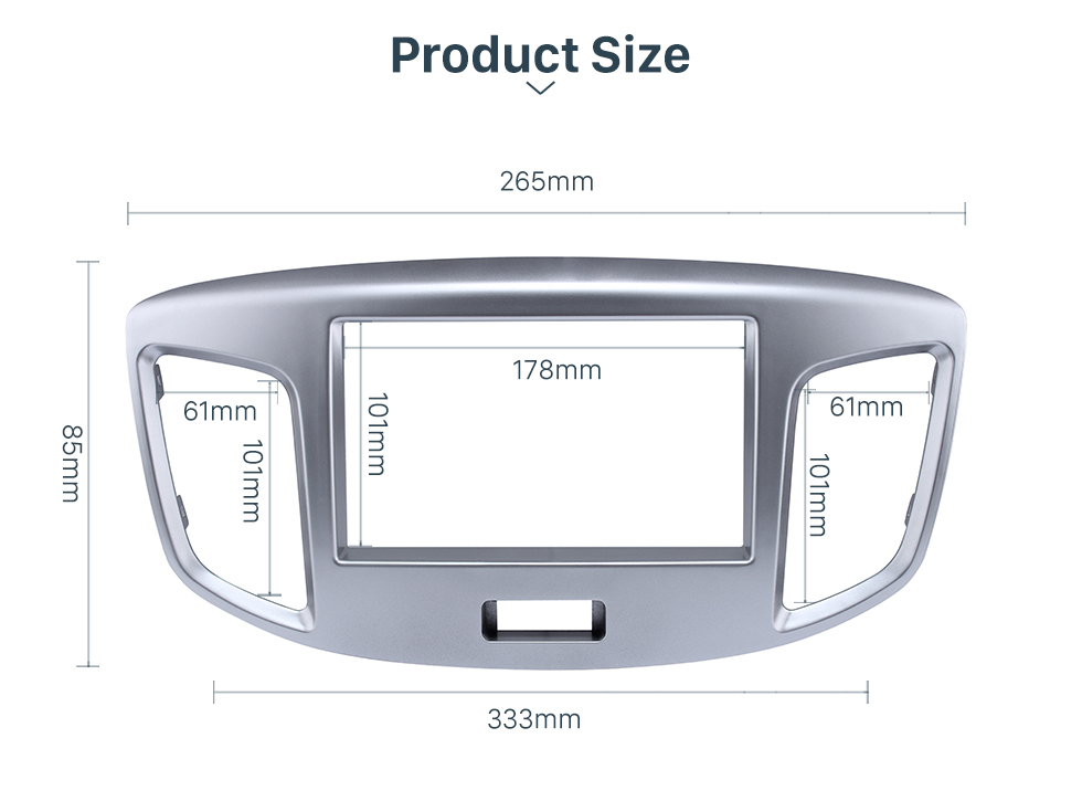 Product Size Silver Double Din 2015 Suzuki Wagon Car Radio Fascia DVD Frame Stereo Player Fit Installation Panel Plate