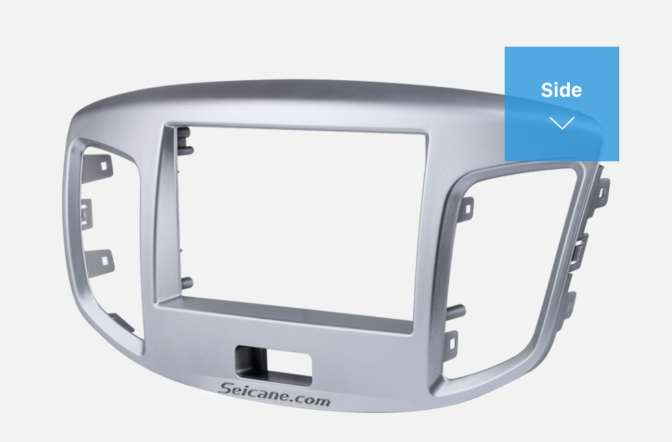 Side Silver Double Din 2015 Suzuki Wagon Car Radio Fascia DVD Frame Stereo Player Fit Installation Panel Plate