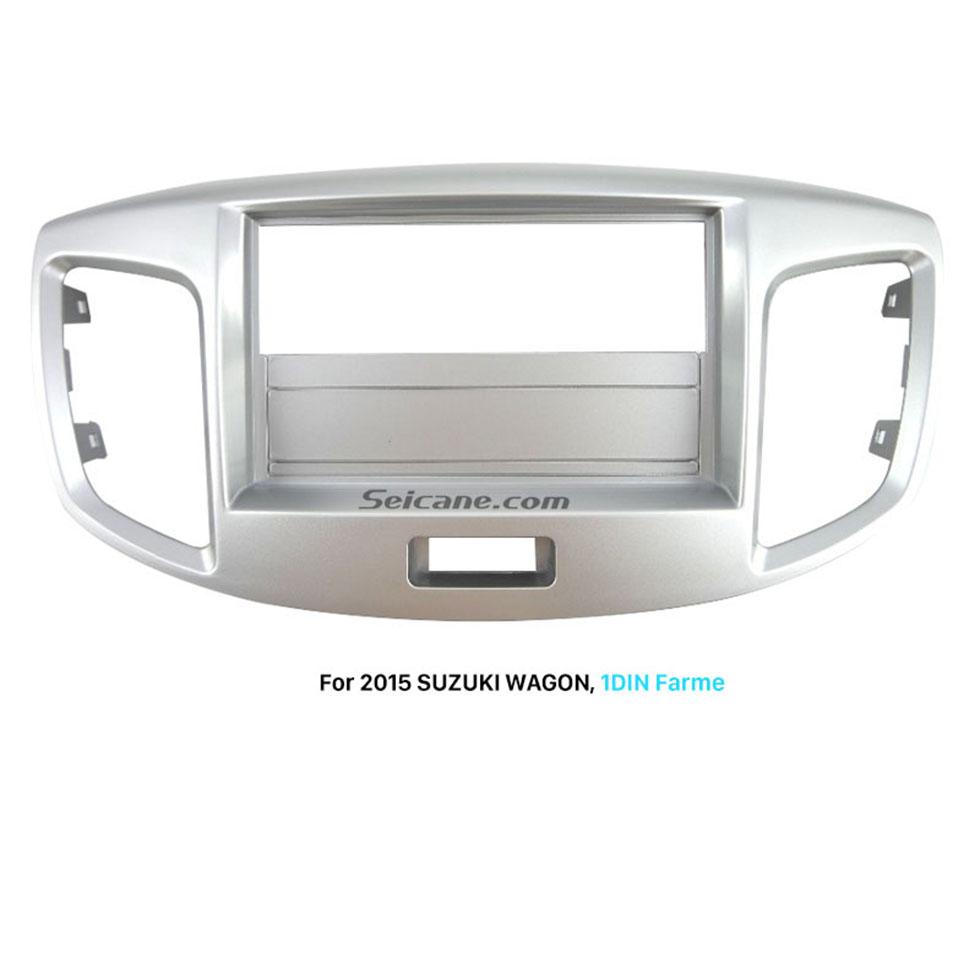 Seicane Silver 1Din 2015 Suzuki Wagon Car Radio Fascia DVD Panel Trim Install Frame Stereo Interface