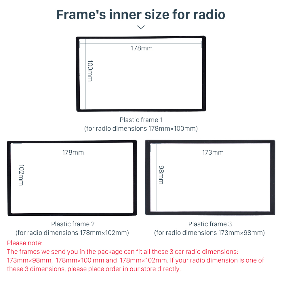 Seicane UV Black Double Din 2015 SUZUKI CELERIO Car Radio Fascia Audio Player Panel Frame Auto Stereo