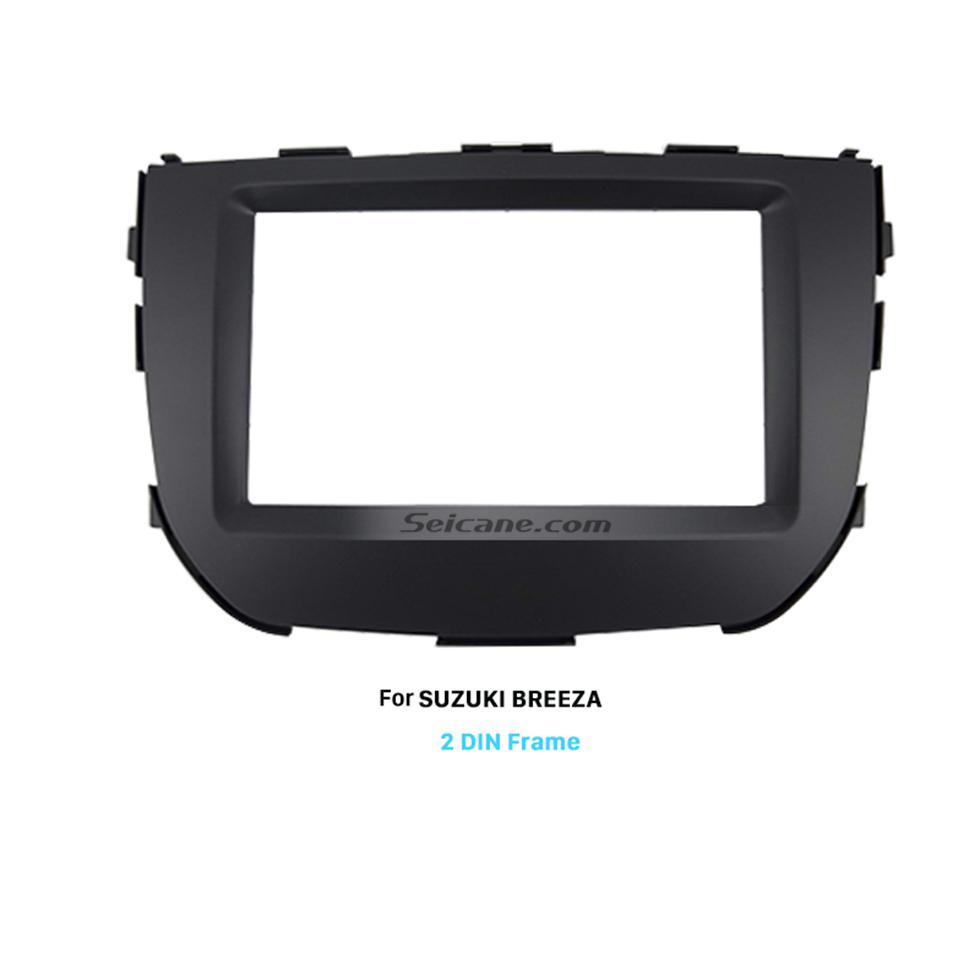 Seicane UV Gray Double Din SUZUKI BREEZA Car Radio Fascia Audio Player Panel Frame Auto Stereo