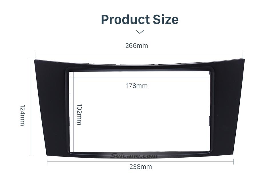 Seicane 2Din 2001 2002 2003-2009 Mercedes BENZ E CLASS W211 CLS CLASS C219 Car Radio Fascia CD Trim Panel Stereo Frame Dash Kit Face Plate