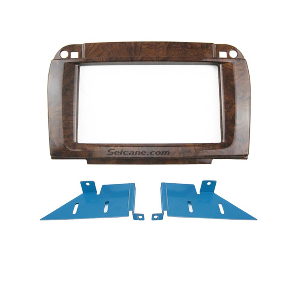 Seicane Wooden Color 2Din 2002-2006 BENZ S-Klasse W220 CL-Klasse C215 Car Radio Fascia Surround Panel DVD Frame Autostereo Interface