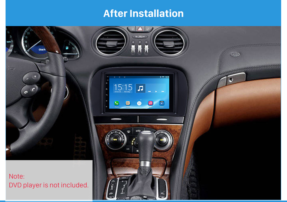 After Installation Delicate Double Din BENZ SL-CLASS (R230)/ G WAGON G500/ G55 Car Radio Fascia Stereo Dash Frame Panel Audio Fitting Adaptor
