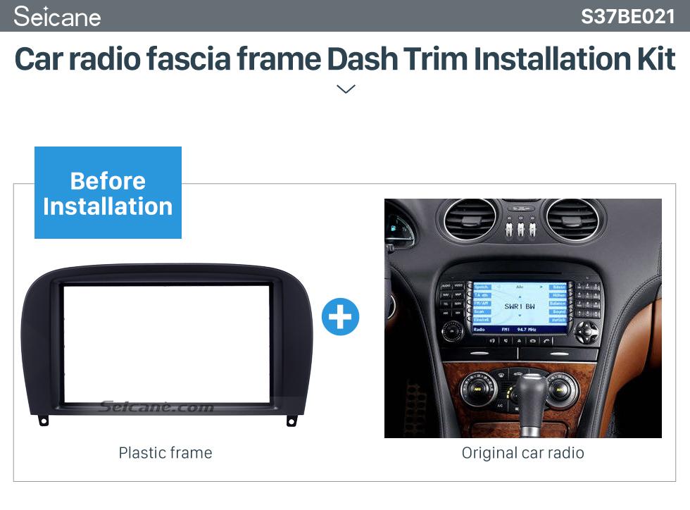 Car radio fascia frame Dash Trim Installation Kit Delicate Double Din BENZ SL-CLASS (R230)/ G WAGON G500/ G55 Car Radio Fascia Stereo Dash Frame Panel Audio Fitting Adaptor