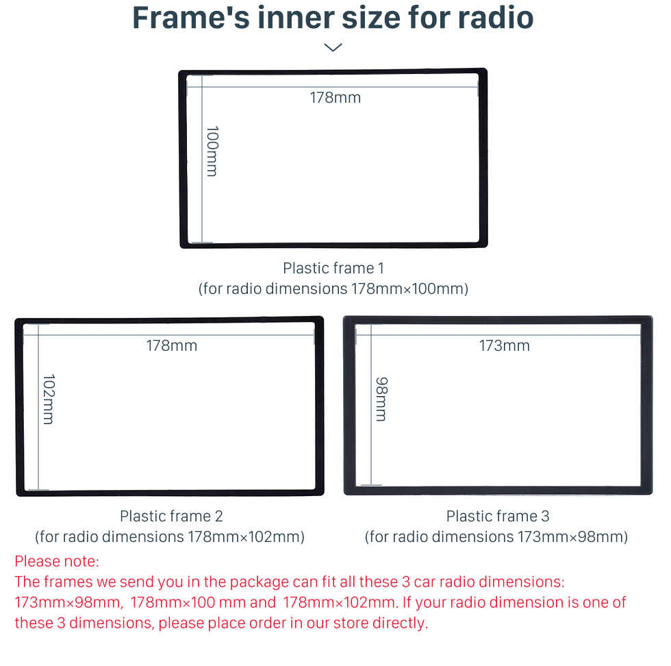 Frame's inner size for radio Delicate Double Din BENZ SL-CLASS (R230)/ G WAGON G500/ G55 Car Radio Fascia Stereo Dash Frame Panel Audio Fitting Adaptor