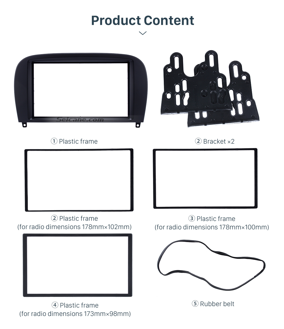 Product Content Delicate Double Din BENZ SL-CLASS (R230)/ G WAGON G500/ G55 Car Radio Fascia Stereo Dash Frame Panel Audio Fitting Adaptor