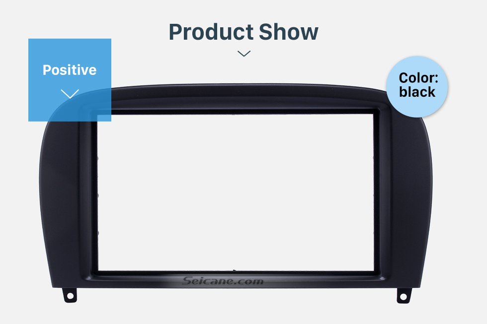 Product Show Delicate Double Din BENZ SL-CLASS (R230)/ G WAGON G500/ G55 Car Radio Fascia Stereo Dash Frame Panel Audio Fitting Adaptor