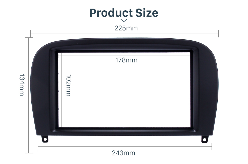 Product Sizel Delicate Double Din BENZ SL-CLASS (R230)/ G WAGON G500/ G55 Car Radio Fascia Stereo Dash Frame Panel Audio Fitting Adaptor