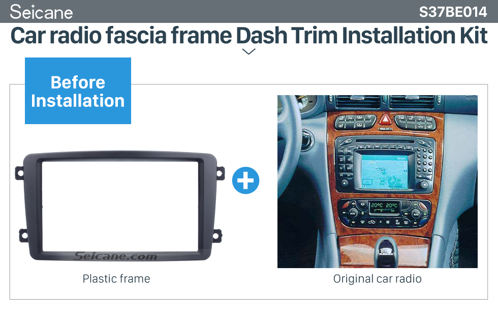 Seicane Superior Double Din 2002 2003 2004 Mercedes BENZ C CLASS W203 Car Radio Fascia DVD Player Panel Frame Kit Stereo Dash