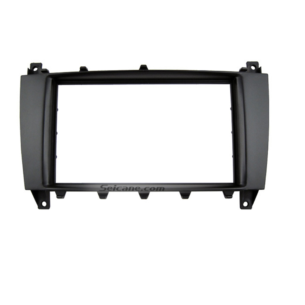 Seicane Black 2Din 2005-2009 Mercedes BENZ C CLASS W203 GLK-Class C209 Car Radio Fascia Stereo Install Panel Kit Audio Fitting
