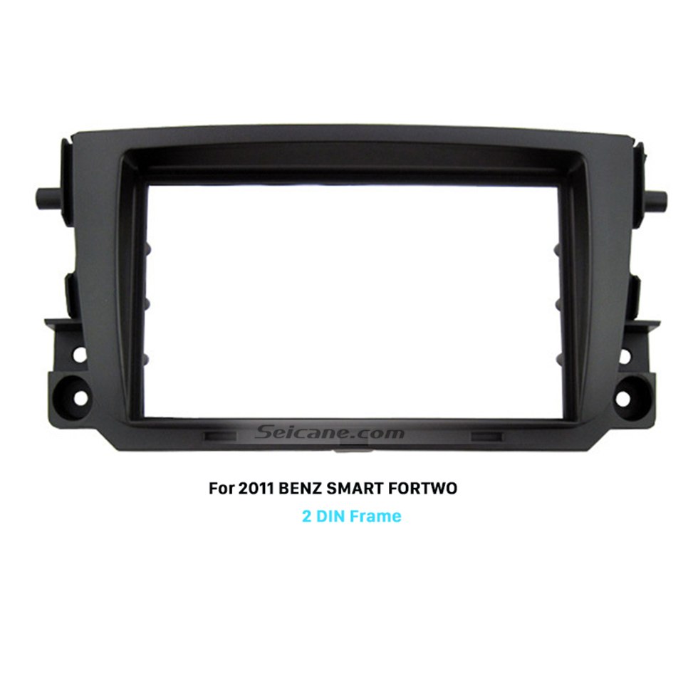 Seicane Black Double Din 2011 Mercedes BENZ SMART FORTWO Car Radio Fascia DVD Frame Face Plate Panel Trim Installation Kit