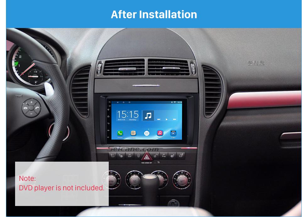 Seicane Чувствительная Двойной Дин 2004-2011 Mercedes-Benz SLK R171 Автомобильный радиоприемник Fascia Stereo Даш Рама Панель Аудио Место Адаптер