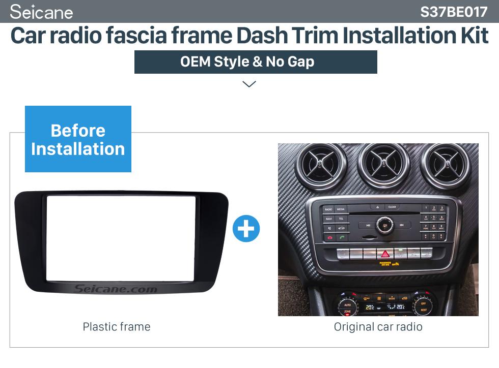 Car radio fascia frame Dash Trim Installation Kit Stunning 2Din 2013 2014 2015 Mercedes BENZ B Class W246 A Class W176 Car Radio Fascia Surround Panel Install Frame Auto Trim