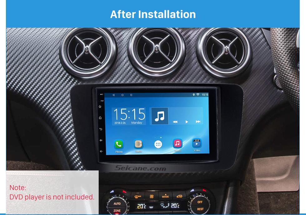 After Installation Stunning 2Din 2013 2014 2015 Mercedes BENZ B Class W246 A Class W176 Car Radio Fascia Surround Panel Install Frame Auto Trim