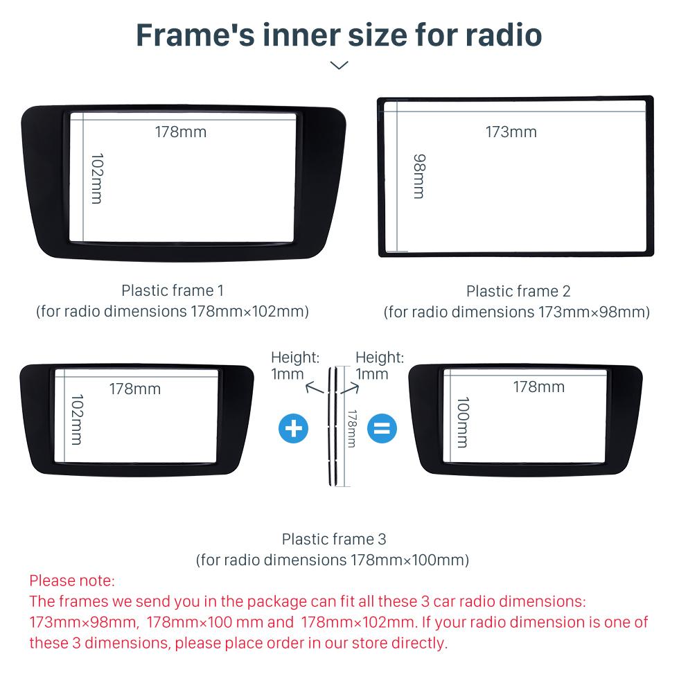 Frame's inner size for radio Stunning 2Din 2013 2014 2015 Mercedes BENZ B Class W246 A Class W176 Car Radio Fascia Surround Panel Install Frame Auto Trim