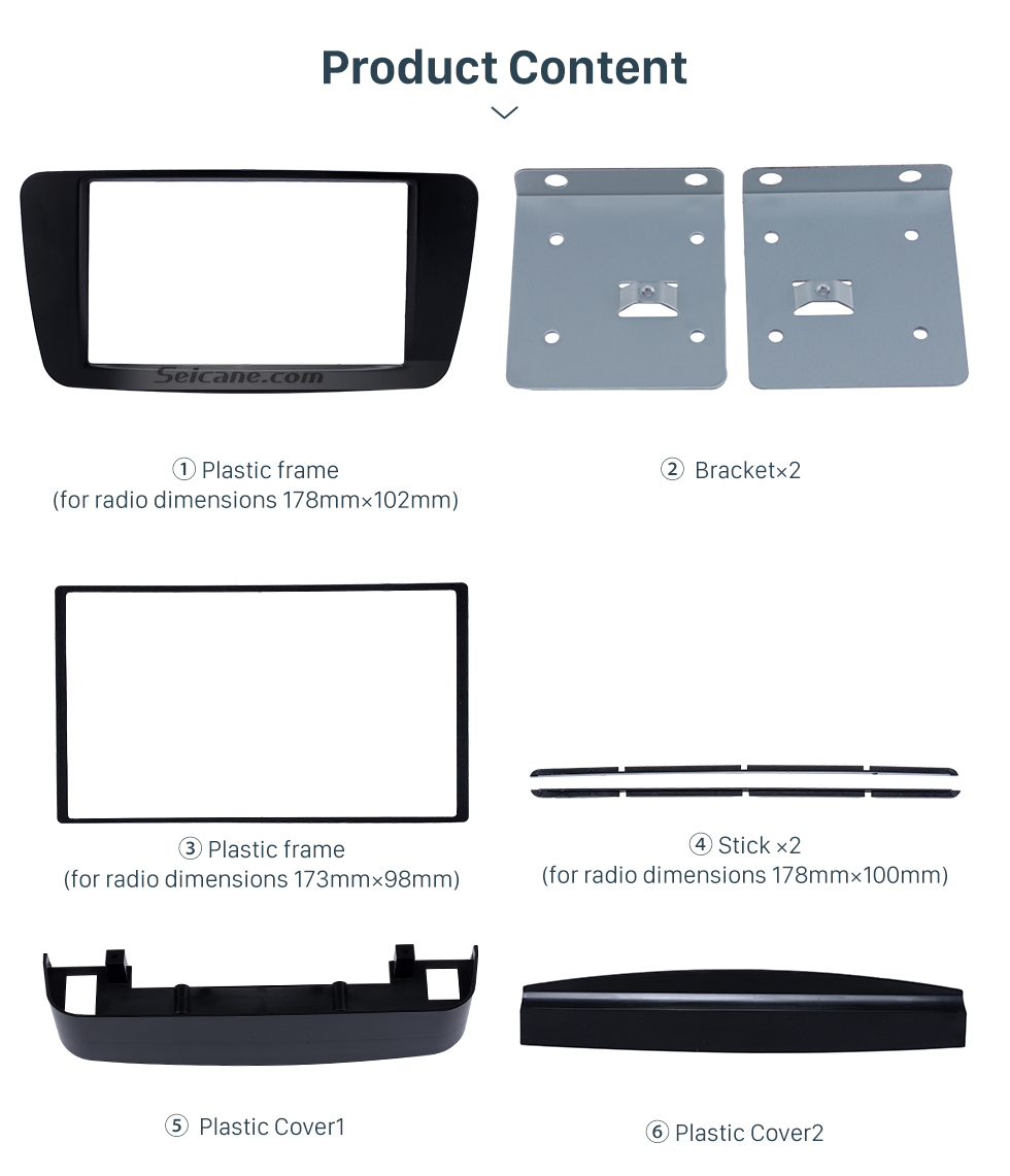 Product Content Stunning 2Din 2013 2014 2015 Mercedes BENZ B Class W246 A Class W176 Car Radio Fascia Surround Panel Install Frame Auto Trim