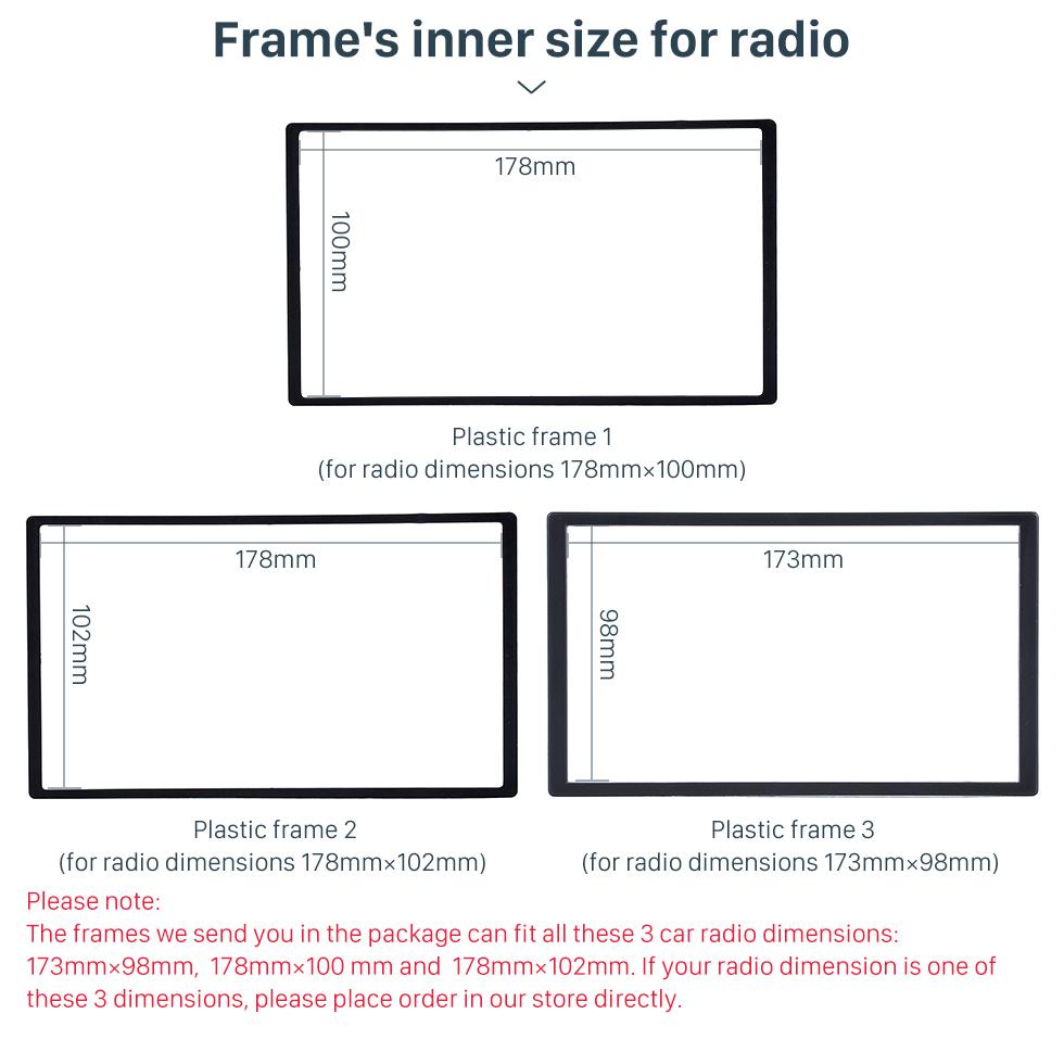 Seicane Black Double Din 2006-2010 Mercedes BENZ ML W164 Car Radio Fascia Trim Installation Autostereo Panel Kit Audio Frame