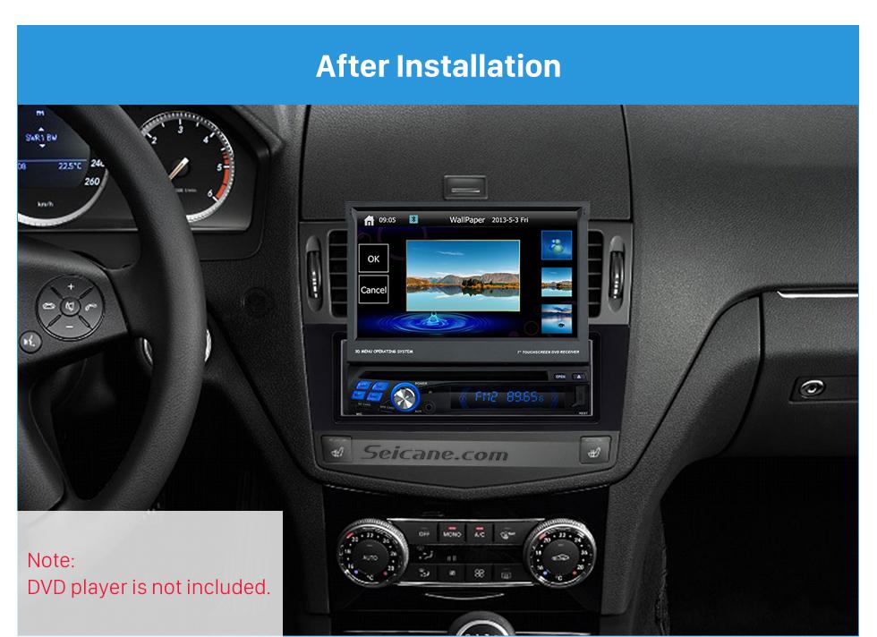 Seicane Fabulous 1Din 2007-2011 Mercedes BENZ C CLASS W204 Car Radio Fascia Surround CD Installation Kit Audio Frame Trim Bezel