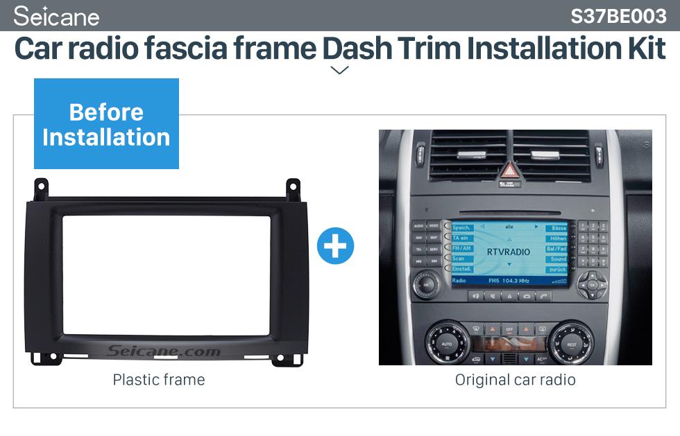 Seicane 2Din 2004-2012 Mercedes BENZ B200 A-Class W169 B-Class W245 Car Radio Fascia DVD Panel Face Plate Dash Installation Frame Kit