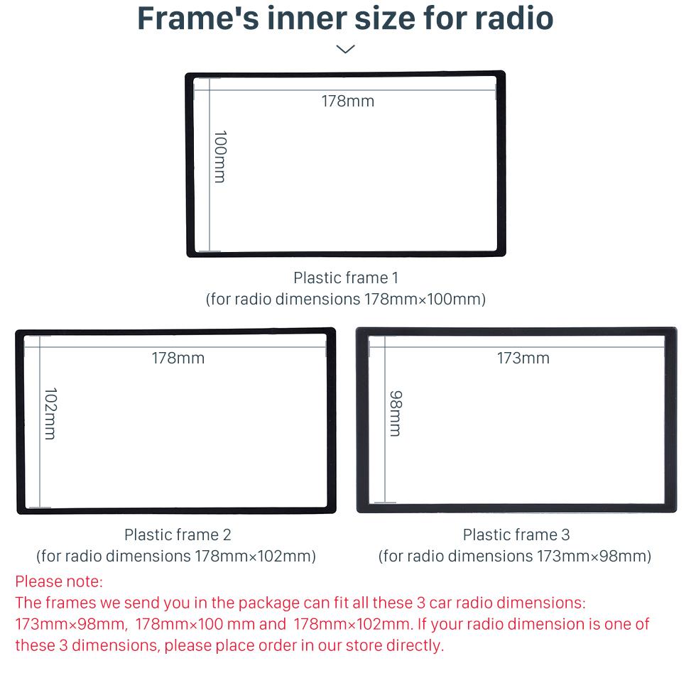 Frame's inner size for radio Black 2 Din 2006 Benz Sprinter/ Volkswagen Crafter Car Radio Fascia DVD Panel Installation Trim Dash Kit Audio Cover Frame