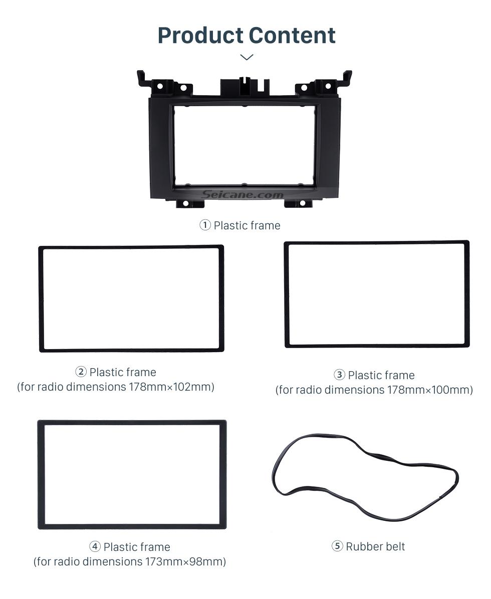 Product Content Black 2 Din 2006 Benz Sprinter/ Volkswagen Crafter Car Radio Fascia DVD Panel Installation Trim Dash Kit Audio Cover Frame